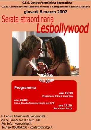 Lesbollywood 8 Marzo 2007