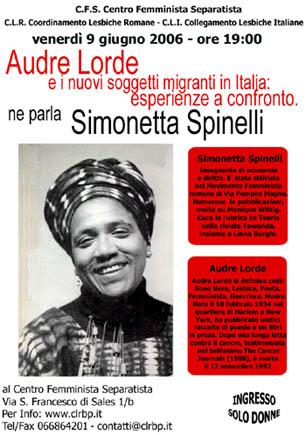 Audre Lorde e i nuovi soggetti migranti in Italia: esperienze a confronto