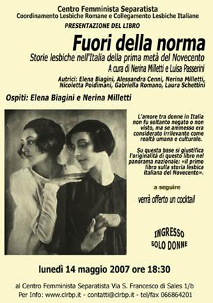 Fuori della Norma - Storie lesbiche nell'Italia della prima metà del Novecento