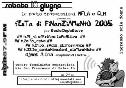 2005 festa finanziamento ror